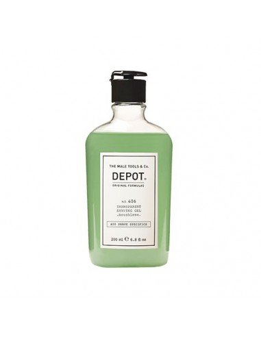 DEPOT NO. 406 TRANSPARENT SHAVING GEL...
